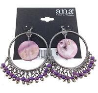 A.n.a. Hoop Earrings By Jcpenney Silvertone