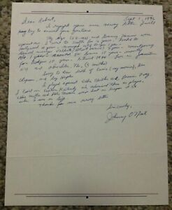 Johnny-O-039-Neil-Signed-Letter-Baseball-Content-Autographed-Letter