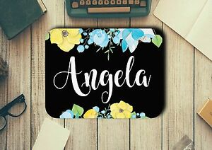 Personalised Mouse Pad Add A Name Non Slip Neoprene - Gift Ideas - Office Decor