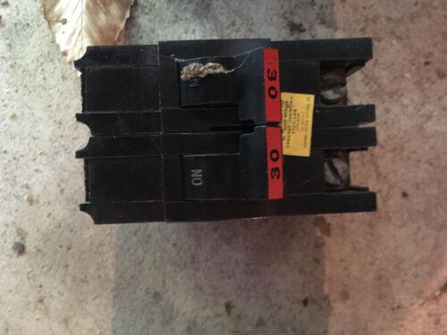 1 FPE FEDERAL PACIFIC NA NA230 CIRCUIT BREAKER 30A 30 AMP 2P 240V 240 VOLT