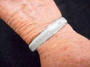 Authentic-Vintage-1960-039-s-MONET-Matte-Silver-Tone-Atomic-Style-Bangle-Bracelet