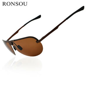 f1bbab5316 Image is loading RONSOU-Men-Women-Pilot-Sunglasses-Polarized-UV400- Protection-