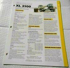Factory Gradall Xl 3100 Hydraulic Excavator Dealership Spec Brochure Guide