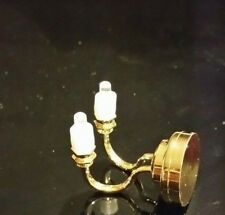 1:12 Scale Working Double Candle Wall Light Tumdee Dolls House Miniature CL2002