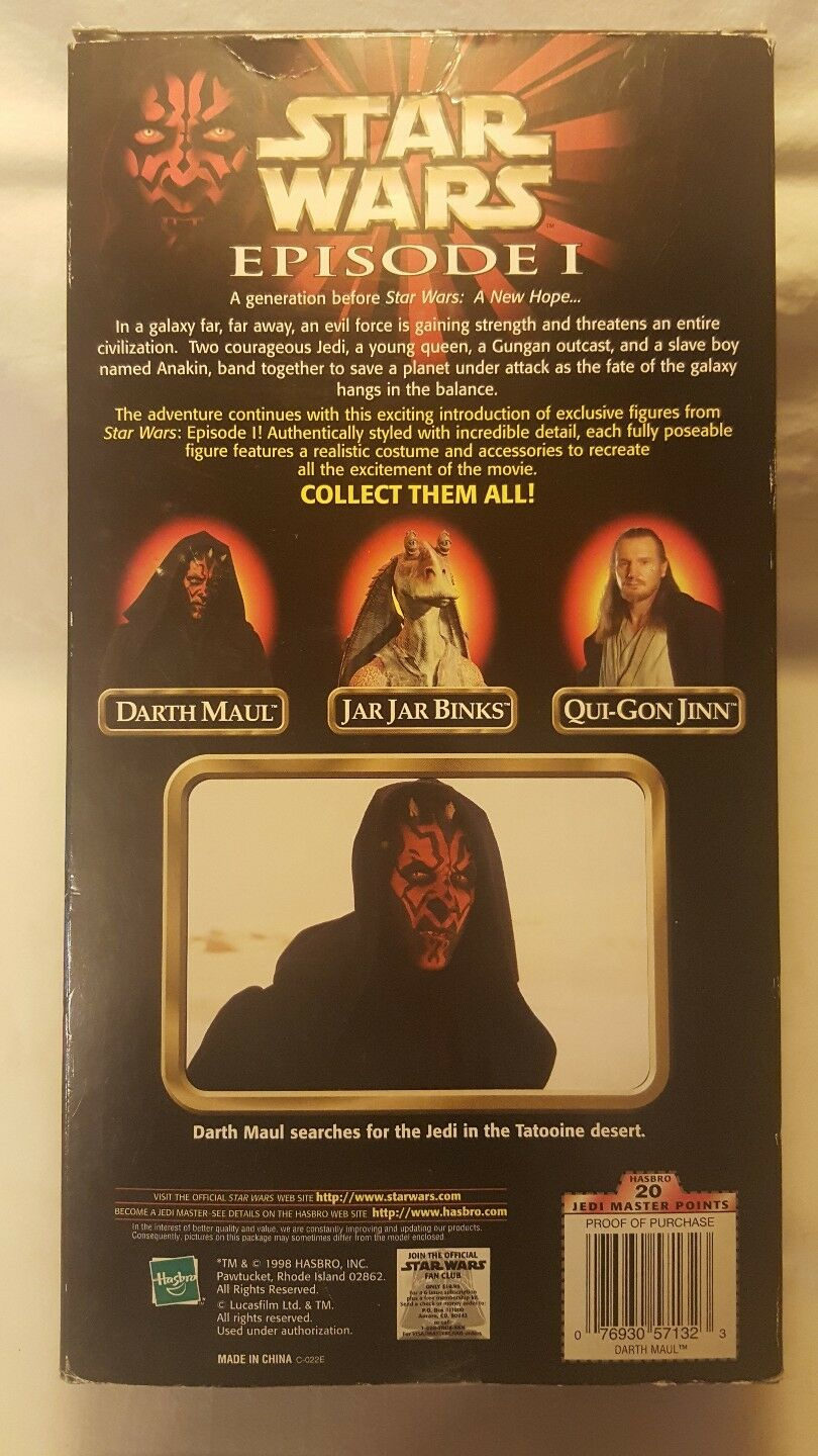Star Wars Darth Maul 12  Episode I Action Figure Figure Figure with Lightsaber 1998 New 657939