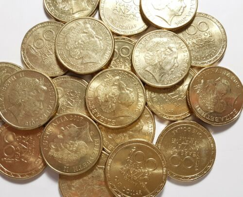 2014 2015 2016 2017 2018 ANZAC 100 years Commemorative 5 x $1 circulated set