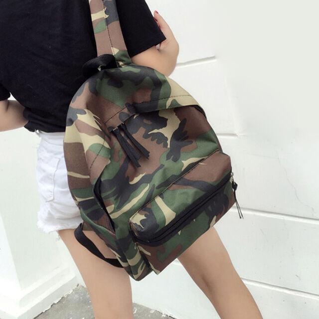 Women Girl Canvas School Shoulder Bag Handbag Bookbag Backpack Travel Rucksack