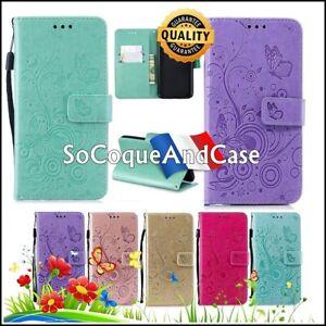 Etui-Coque-Papillons-Cuir-PU-Leather-Case-Samsung-Galaxy-A10-A20-20e-A30-A40-A50