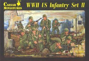 Caesar Miniatures H071 - Wwii Us Infantry Set Ii - 1:72 Pour Effacer L'Ennui Et éTancher La Soif