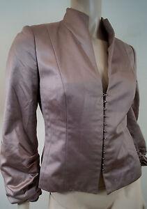 Evening Sleeve Pink 3 Wakeley Sheen Amanda Neckline High Pleated m S Jacket 4 w4zOqOx0F