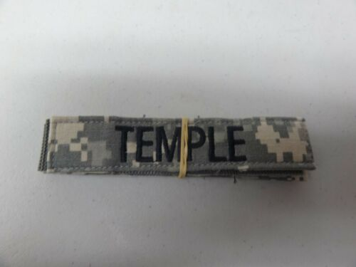 MILITARY US ARMY PATCH FOR ACUS DIGITAL HOOK AND LOOP BACK NAME TAPE WITH TEMPLE