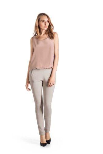100/% soie-Couleur Corail-taille xs-L HANRO Knit chemisiers-top série silk
