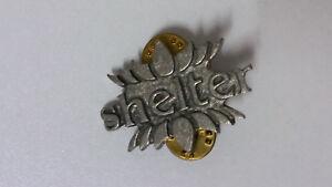 Shelter-RARE-Poker-Alchemy-Carta-Vintage-metal-music-pin-pin-039-s-punk