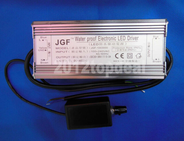 Dimmable IP67 Waterproof 100W High Power LED Driver DC30-36V with Dimmer
