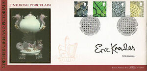 2001-ALL-4-NI-DEFINITIVES-BENHAM-FIRST-DAY-COVER-HAND-SIGNED-BY-ERIC-KNOWLES-SHS