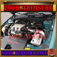 Red 1997-2003/97-03 Chevy Malibu 3.1l V6 Full Cold Air Intake Kit 3pc