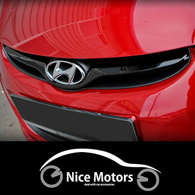 Radiator Grille Cover Glossy Matte Black For Hyundai Elantra 2011 2015