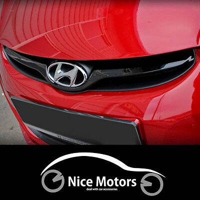 Radiator Grille Cover Glossy Matte Black For Hyundai Elantra 2011 2015