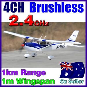 Brushless-4CH-Cessna-182-LiPo-RTF-RC-Electric-Plane-Airplane-2-4GHz-Blue-4-Servo