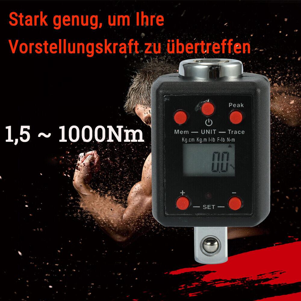 High Precision Elektronische Digital Drehmomentschlüssel 1.5-1000Nm Adapter E7Q2