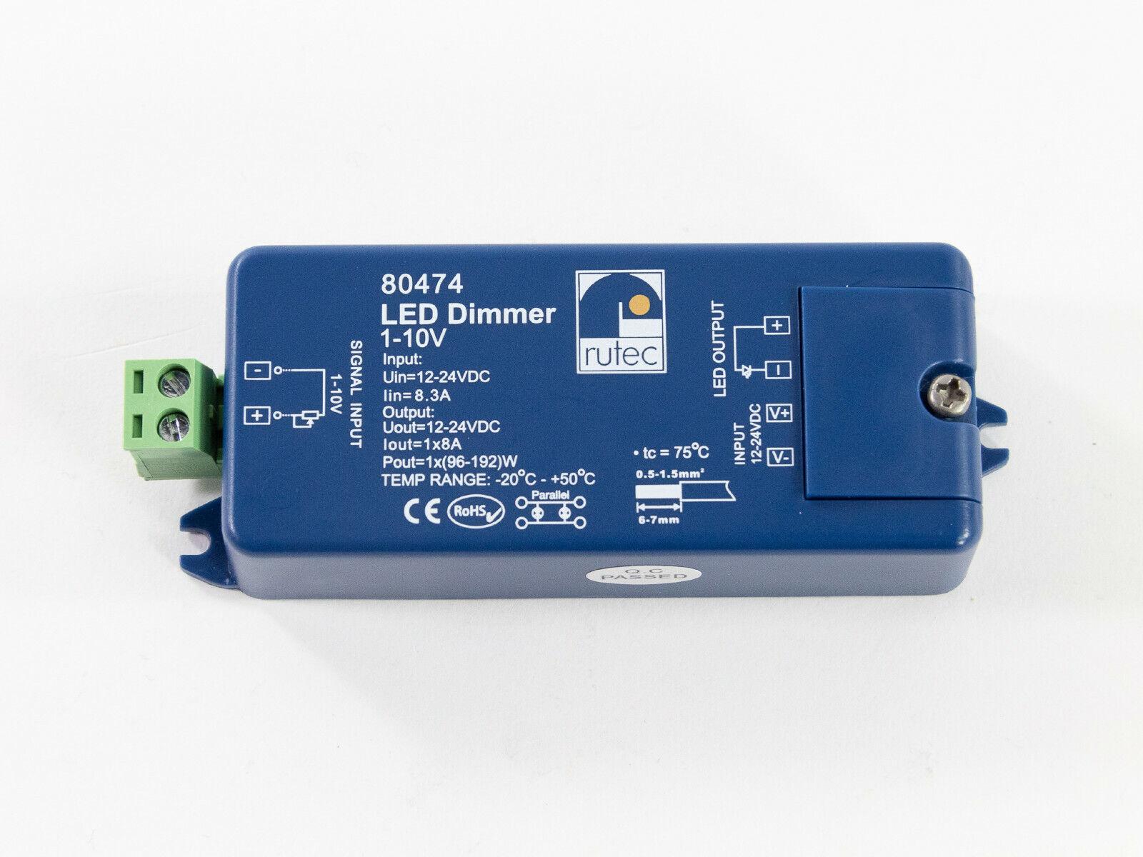 LED Dimmer rutec 1-10V 96W   12V DC -192W   24V DC   80474