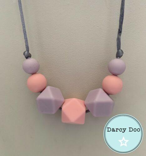 Serenity Teething Necklace Silicone Fiddle Breastfeeding Sensory Jewellery