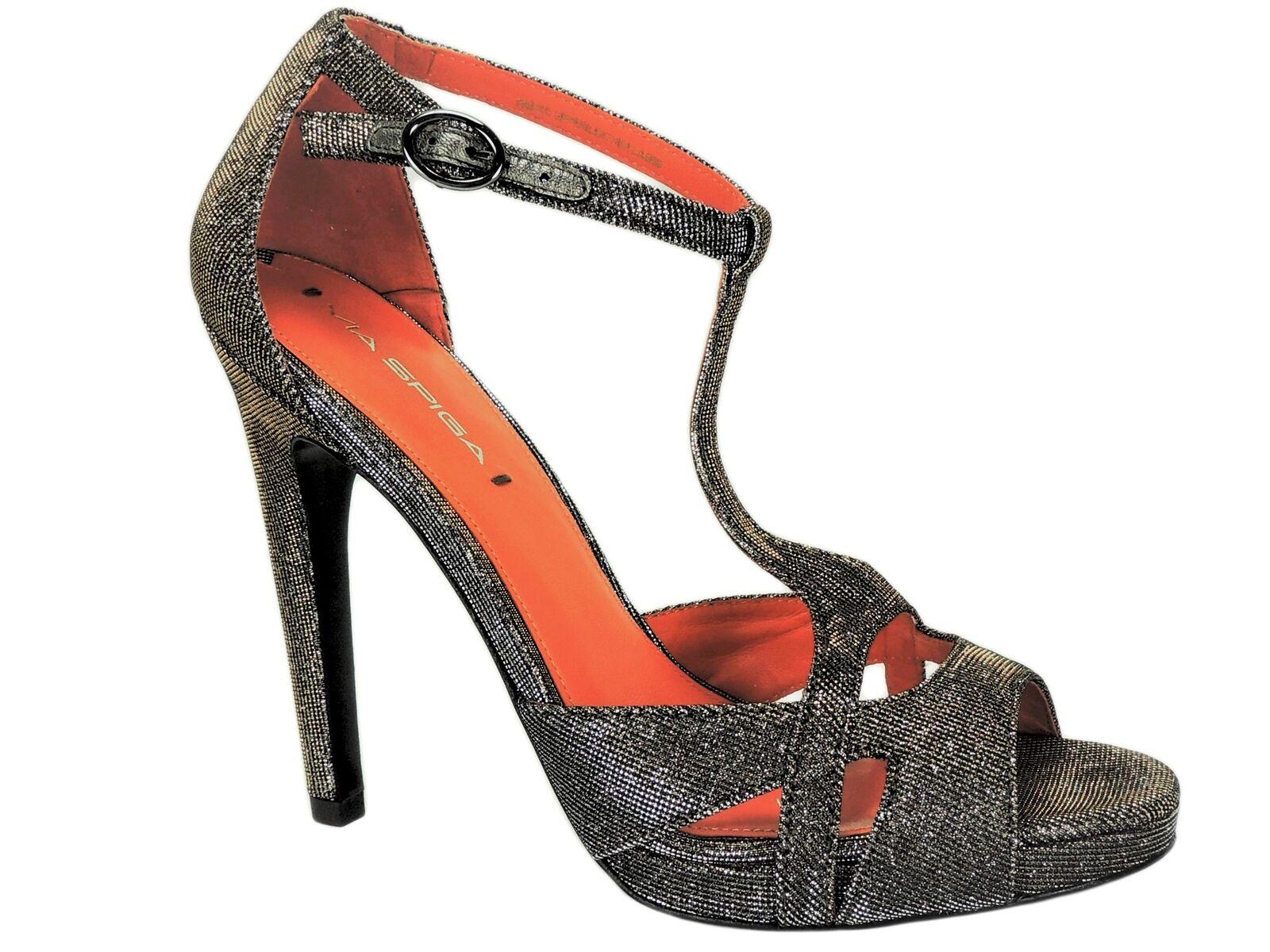 la migliore selezione di Via Spiga Donna  Pamela Strappy Strappy Strappy High Heels Anthracite Dimensione 8.5 M  prima qualità ai consumatori