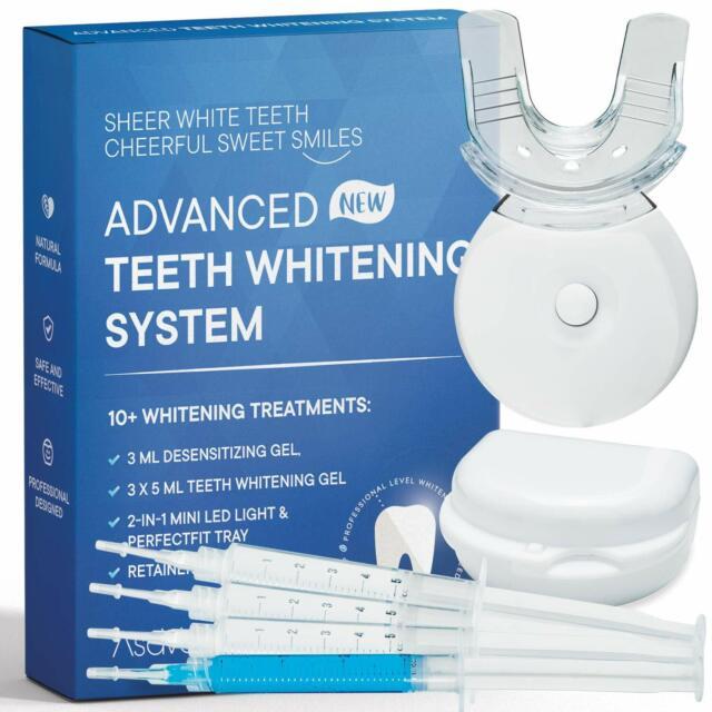 Asavea Premium Teeth Whitening Kit Led Light At Home System