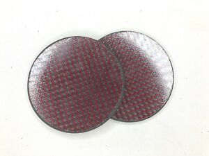 Red-Carbon-Fiber-Made-with-Kevlar-Coaster-Set-of-2-NEW
