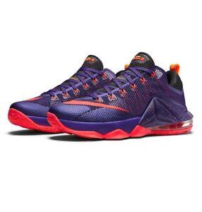 0360436e4640 Nike Lebron XII Low Raptors Court Purple Bright Crimson 724557-565 ...