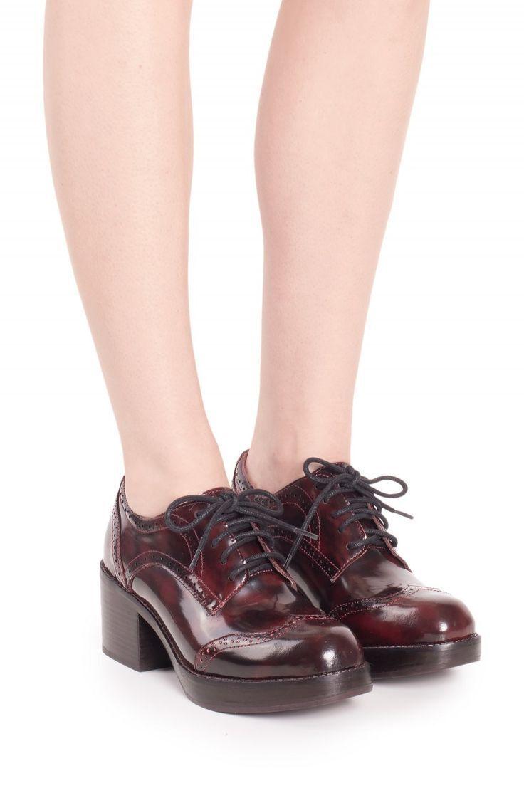 Jeffrey Campbell Platform Heels - Hamish Wine Leather Loafer - SZ 9 Twee