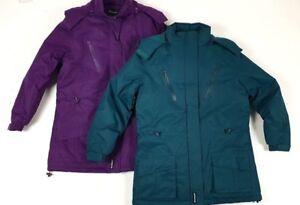 ladies-Womens-Semi-Fleece-Lined-Winter-Waterproof-Coat-Jacket-Size-12-to-24