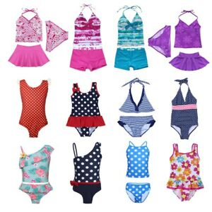 Filles-Imprime-Floral-Tankini-Maillot-de-bain-swimwear-kids-swimming-costume-maillot-de-bain