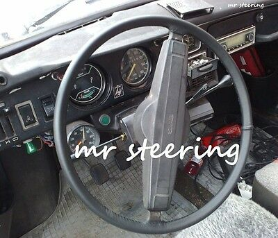 FOR RELIANT SCIMITAR GTE PERFORATED LEATHER STEERING WHEEL COVER GREEN DOUBLE ST