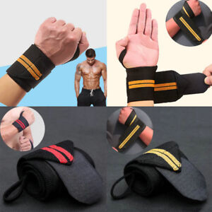 New-Weight-Lifting-Bar-Straps-Gym-Bodybuilding-Wrist-Support-Wraps-Bandage