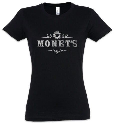 Monet/'s I Damen T-Shirt 13 Zeichen Symbol Logo Reasons Cafe Schild Why Hannah