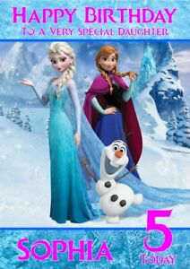 Amazing Personalised Birthday Card Frozen Any Name Age Relation Ebay Funny Birthday Cards Online Barepcheapnameinfo
