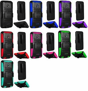 various colors 58700 52e97 Details about Clip + Hybrid Phone Cover Case For Alcatel Ideal 4060a  GoPhone / PIXI 4 (4.5