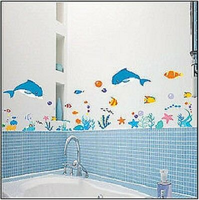 Wall Decor Sticker Wallpaper Art Decal Bathroom Fish  PROMOTION SELLING!!