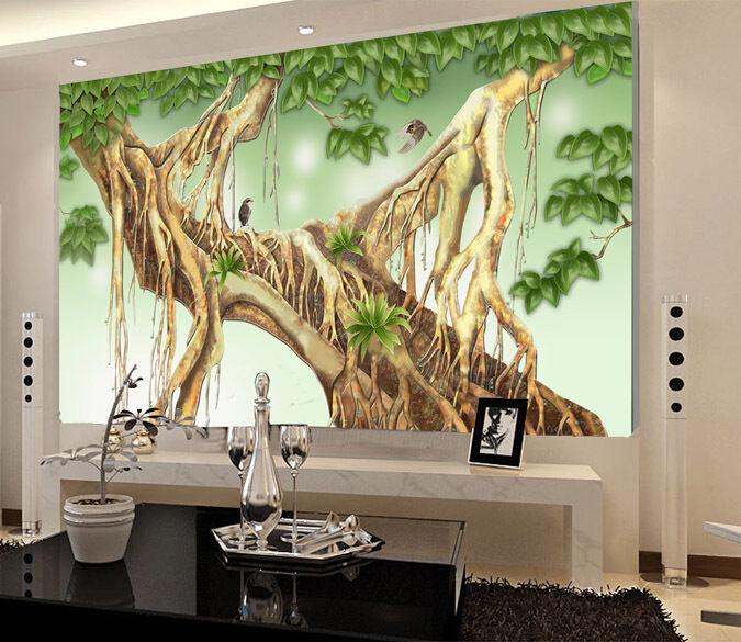 3D Lush Tree Roots 618 WallPaper Murals Wall Print Decal Wall Deco AJ WALLPAPER