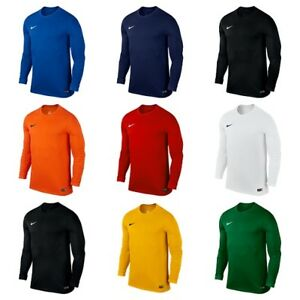 Nike-Pour-Hommes-Park-a-manches-longues-Jersey-Dri-Fit-Football-Shirts-Kits-Top-Sports