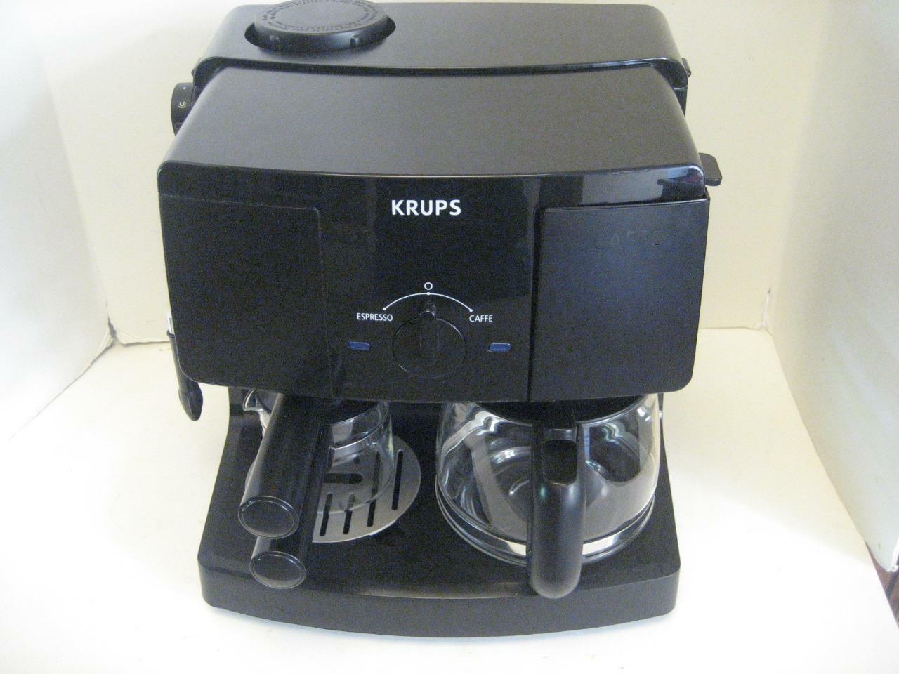 Krups XP1500 10 tasses Combinaison Café Espresso Cappuccino Latte Maker Noir