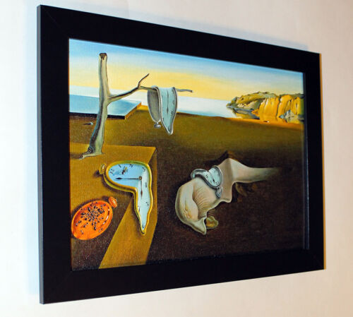 Salvador Dali Persistence of Memory canvas framed 6.8X8.8/&10X13,6 reproduction