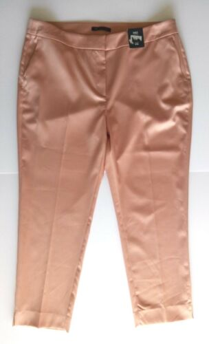 M/&s collection Womens Trousers Silky Pink Nude Formal Slim Size 18 NEW balises