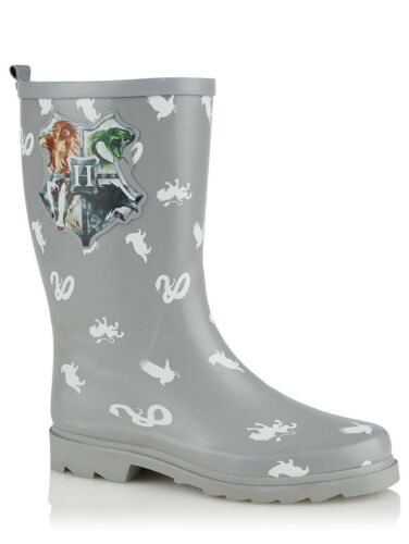 Kids//Boys//Girls//Adults Harry Potter Hogwarts Wellington Boots Grey 1 2 3 4 5