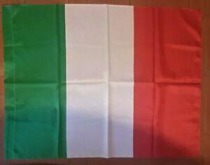 BANDIERA ITALIA CON ASOLA PER ASTA TRICOLORE ITALIANA GRANDE 150X90 CM NAZIONALE