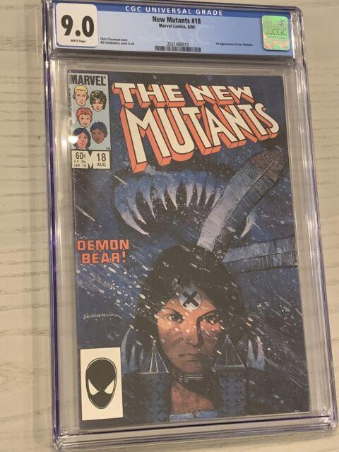 New Mutants #18 CGC 9.0 White Pages 1st App of Warlock - Demon Bear Marvel 1984