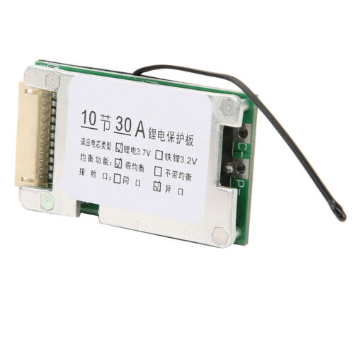 Balance 10S 30A 36V Li-ion Cell 18650 Battery Protection BMS PCB Board Durable