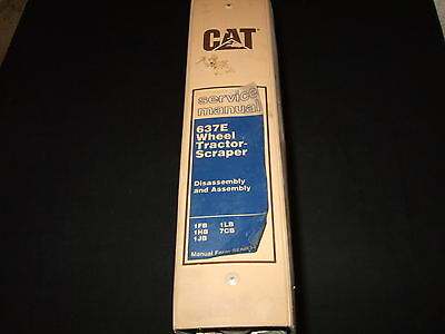 CAT CATERPILLAR 637E WHEEL TRACTOR SCRAPER SERVICE SHOP REPAIR BOOK MANUAL