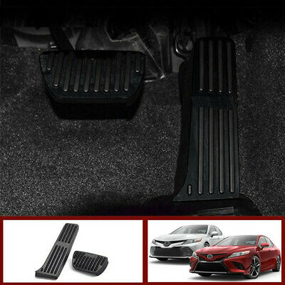 For 2018 2019 Toyota Camry Non-Slip Aluminum alloy Pedal Cover Automatic Motor No Drill Brake Gas Rest Pedals Accelerator Accessories 3pcs (RED)